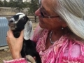 Shari and Milky Way, a baby Cashmere goat